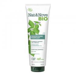 Champu purificante cabello graso Bio 250ml Nat&Nove - Imagen 1