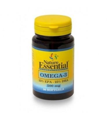 omega 3  500mg 50 perlas  nature essential