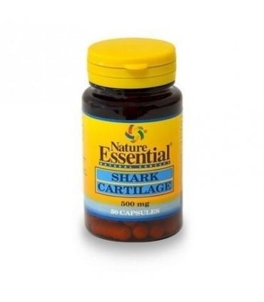 cartilago de tiburon 500mg 50 capsulas  nature essential