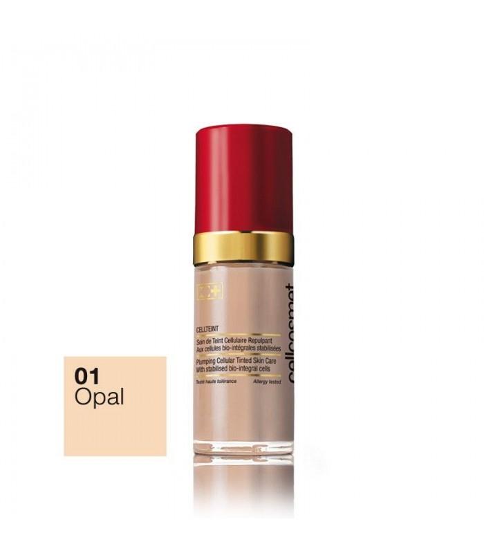 Maquillaje con tratamiento CellTeint Cellcosmet 01 OPAL